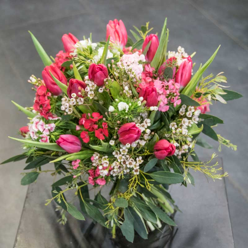 Couleur rose for Bouquet de tulipes