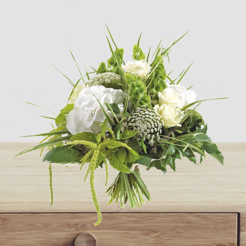 Collection de bouquets murielle bailet for Bouquet de fleurs vert et blanc