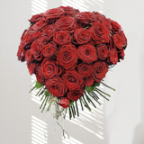 Bouquet coeur roses rouges - MB Murielle Bailet ®